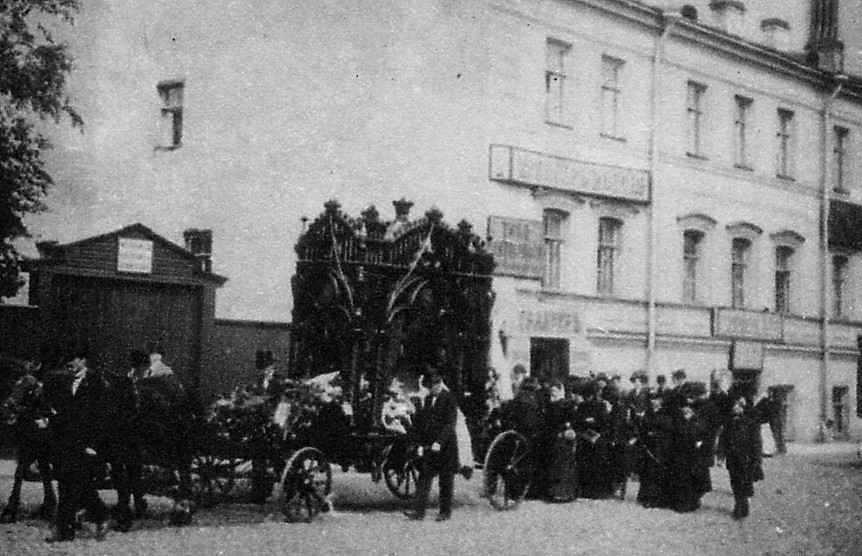 The funeral cortège of Marius Petipa (17th July 1910)